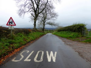 Slow on the road