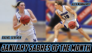 Basketball players Sabres of the Month