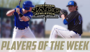 Two baseball players for players of the week