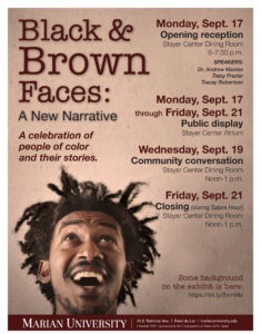 Black & Brown Faces poster
