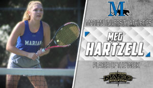 Student Hartzell Player of the week