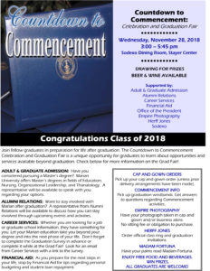 countdown to commencement poster