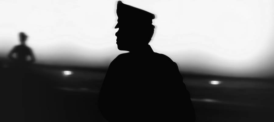 Silhouette of a military solider. Learn more about Marian's Military Science Program (ROTC).