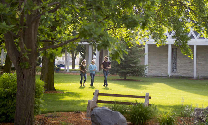 Marian students walking on campus. Learn about Marian's open pathway process.